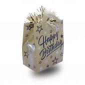 1 Adet Gold (Altın) Renk Happy Birthday Yazılı Balon Ağırlığı