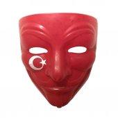 Kırmızı Ay Yıldızlı V For Vendetta Maskesi Türkiye Taraftar Maske