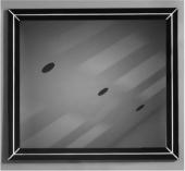 OTTO Manhattan 90*80 cm Siyah Gümüş Renk Lake Çerçeveli Ayna-2