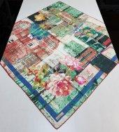 Minelli Yazılı Çiçekli Tivil Eşarp 1501