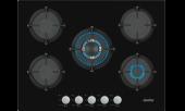 Simfer 3701 Wok Gözlü Siyah Cam Ankastre Ocak