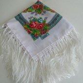 Püsküllü Eşarp, Beyaz Cam Göbeği Pembe