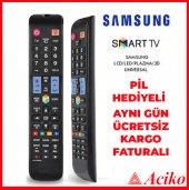 Tuşlu Samsung Uyumlu Aklıı Tv Kulamdası Led Lcd Kumanda