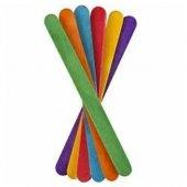 Ahşap Dil Çubuk 50 Li Paket Renkli Kalın
