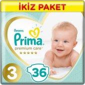 Prima Premium Care Bebek Bezi 3 Beden 72 Adet (36x2)