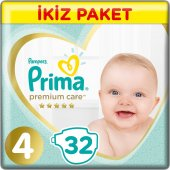 Prima Bebek Bezi Premium Care 4 Beden 32 Adet Maxi Ekonomi Paketi (9 14 Kg)