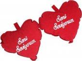 Kalpli Yastık 2li Seni Seviyorum 14 16 Cm Kadife