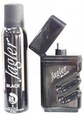 Jagler Black Set 90ML EDT + Deodorant 150ML Erkek Parfüm k