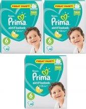 Prima Aktif Bebek 6 Numara Fırsat Paketi 40 X 3 120 Adet (11 18 Kg)