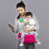 My Valice Carry Bel Destekli Ana Kucağı Bebek Taşıyıcı Kanguru Pembe