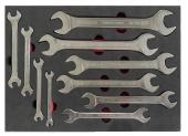 Brio Anahtar İki Ağız Set 10 Parça 6x7 24x27 Sünger Yataklı