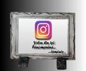 Instagram Eskitme Siyah Doğal Taş Çerçeve,özel Hd Baskı