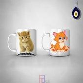Kedi,kedi Sevgisi Özel Kupa Bardak Hd Baskı
