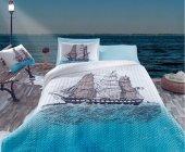 Cotton Box Rnf Maritime Tek Kişilik Complete Set Ship Mavi