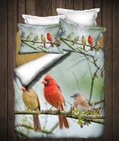 Canarıno 3d Çift Kişilik Nevresim Takımı Polly