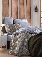 Cotton Box Rnf Minimal Tek Kişilik Yatak Örtüsü Takımı Joy Mavi