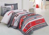 Cotton Box Rnf Comfort Tek Kişilik Yatak Örtüsü Seti Redcar Kırmızı