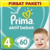 Prima Aktif Bebek Maxi 4 Beden (2x60) 120li Bebek Bezi (9 14 Kg)