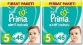 Prima Bebek Bezi 5 Numara 46 Adet Aylık Fırsat Paketi 2li (11 16 Kg)