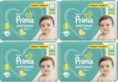 Prima Bebek Bezi 5 Numara 46 Adet Aylık Paketi 4lü (11 16 Kg)