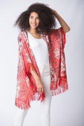 Baskılı Kimono Mercan