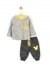 Disney Erkek Bebek Kapüşonlu 2li Takım Gri 14712