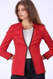 Yarım Kollu Ceket Kırmızı