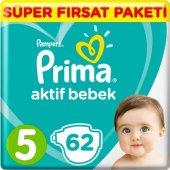 Prima Bebek Bezi Aktif Bebek 5 Beden 62 Adet Junior Fırsat Paketi