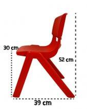 5li Junior Çocuk Sandalyesi, Kreş Ve Anaokulu Sandalyesi Kırmızı