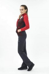 Exnex 5811 Bayan Raşel Eşofman T.k Kırmızı Noktalı