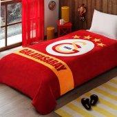 Taç Kristal Galatasaray Sarı Kırmızı Battaniye Tek Kişilik