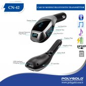 Araç İçi Usb Sd Kart Aux Bluetooth Fm Transmitter Kablosu X5