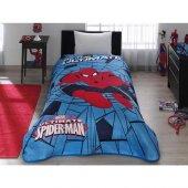Taç Kristal Spiderman Web Battaniye Tek Kişilik