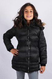 Milan Çocuk Club 314 Yaş Kız Çocuk Mont Kaban Siyah Renk