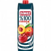 Dimes 100 Meyve Suyu Elma Şeftali 1 Lt