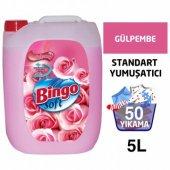 Bingo Soft Yumuşatıcı Gülpembe 50 Yıkama 5 Lt