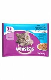 Whiskas Yaş Kedi Mama Balıklı 4x100 Gr