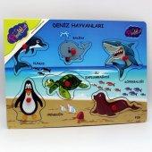 Ahşap Tutmalı Deniz Hayvanları