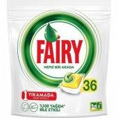 Fairy Hepsi Bir Arada Bulaşık Makinesi Deterjanı Kapsülü Limon Kokulu 36 Adet