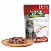 Jungle Dana Etli Parçalı Yetişkin Kedi Maması 100 Gr