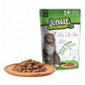 Jungle Tavuk Parçalı Yetişkin Kedi Maması 100 Gr