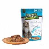 Jungle Somon Parçalı Yetişkin Kedi Maması 100 gr