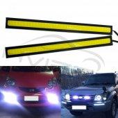 Su Geçirmez Gündüz Farları Oto Araba Drl Cob Sürüş Sis Lambası Güncelleme Ultra Parlak Led Dc 12v 17
