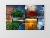 Dört Mevsim Ağacı Tablosu