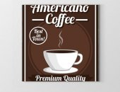 Americano Coffee Vintage Afiş Tablosu