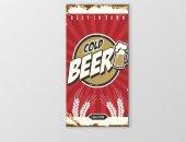 Soğuk Bira Reklam Afişi Tablosu