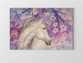 çiçekli At Ve Beyaz At Tablosu
