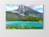 Muhtesem Göl Ve Dağ Tablosu