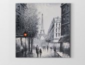 Eiffel Kulesi Siyah-Beyaz Tablosu