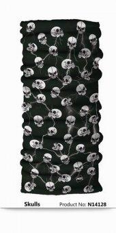 Narr Buff Bandana Skulls -Çok Fonksiyonlu